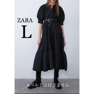 ZARA - 【新品・未使用】ZARA バルーンスリーブ ワンピース L