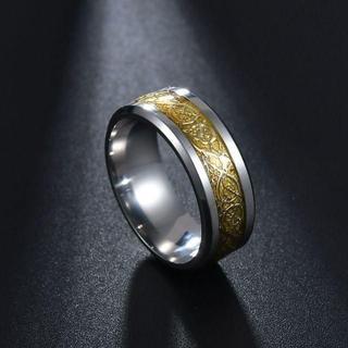 ドラゴンリング ドラゴン 龍 伝説 ステンレス リング 指輪 16号(リング(指輪))
