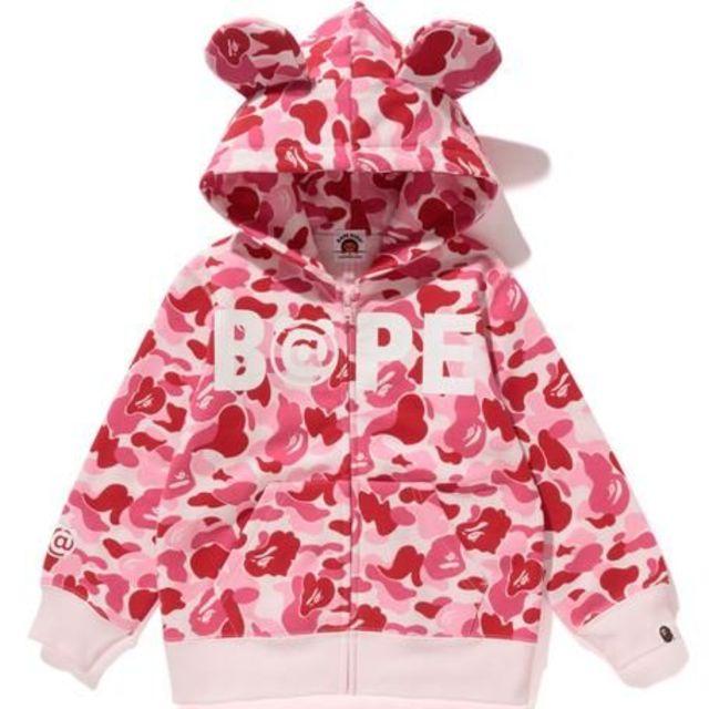 A BATHING APE(アベイシングエイプ)の110BAPE KIDS ABC BE@R ZIP HOODIE キッズ/ベビー/マタニティのキッズ服女の子用(90cm~)(ジャケット/上着)の商品写真