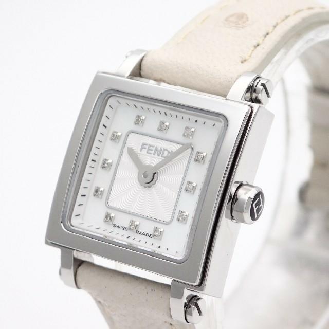 FENDI(フェンディ)の【FENDI】フェンディ腕時計 'クアドロミニ' ホワイトシェル☆ダイヤモンド☆ レディースのファッション小物(腕時計)の商品写真