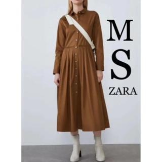ZARA - 【新品・未使用】ZARA プリーツ入り ミディ丈 ワンピース M