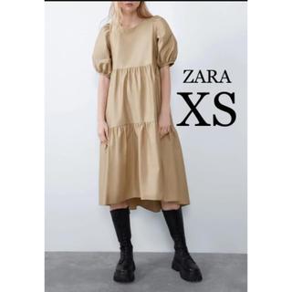 ZARA - 【新品・未使用】ZARA アシンメトリー ポプリン  ワンピース  XS