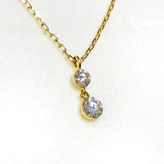 agete - agete  アガット ダイヤモンドネックレス 0.15ct K18YG