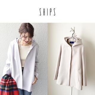 SHIPS - 美品 SHIPS フードショートコート