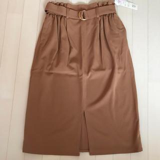 しまむら - ベルト付き ひざ丈スカート