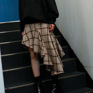 rienda - MIELIINVARIANT ドレープスランティングスカート