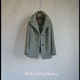 DOLCE&GABBANA - 超高級 美品 ドルチェ&ガッバーナ イタリア製希少最高級アルパカショートコート