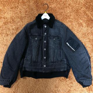 sacai - 【美品】sacai 18aw デニム×ボア ドッキング MA-1ジャケット