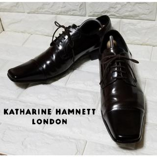 キャサリンハムネット(KATHARINE HAMNETT)の✿KATHALINE HAMNETT✿ストレートチップ26.0cm 黒茶(ドレス/ビジネス)