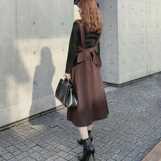 rienda - 期間限定出品‼️リエンダ Wool like Back Ribbon J/WSK