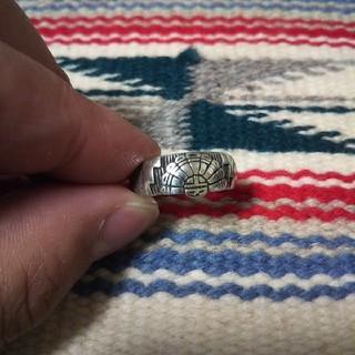 インディアン(Indian)のインディアンジュエリー ナバホ族 サンフェイス シルバーリング 指輪 ホピ族(リング(指輪))