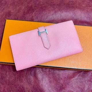 Hermes - ♡美品♡ ベアン スフレ ピンク エルメス 財布 ヴォーエプソン 二つ折り