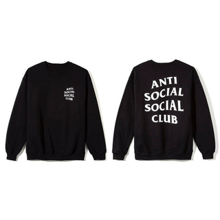 アンチ(ANTI)のBlack Crewneck anti social social club(スウェット)