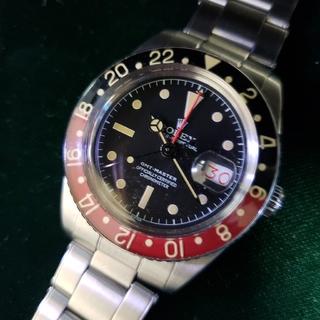 ROLEX - 6542 GMTマスター、黒&赤ベゼル  ビンテージカスタム。