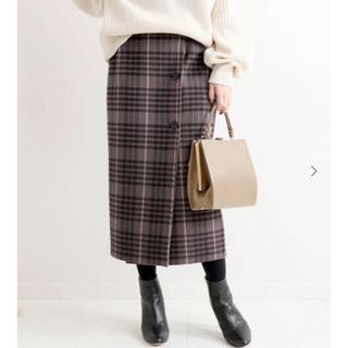 IENA - IENA Wフェイスミッドカーフスカート 36