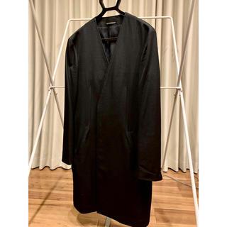 ヨウジヤマモト(Yohji Yamamoto)の美品 ヨウジヤマモト ノーカラージャケット ギャバ黒(ノーカラージャケット)