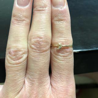 ツモリチサト(TSUMORI CHISATO)のツモリチサトジュエリー K10 ダイヤモンド 月リング(リング(指輪))