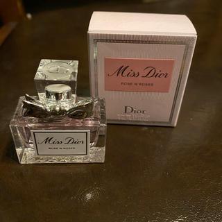 ディオール(Dior)のミスディオール♡ ローズ&ローズ 香水 5ml 新品(香水(女性用))