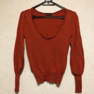 インディヴィ(INDIVI)のINDIVIのウールセーター◎オレンジブラウン◎美品◎サイズ5◎インディヴィ◎(ニット/セーター)