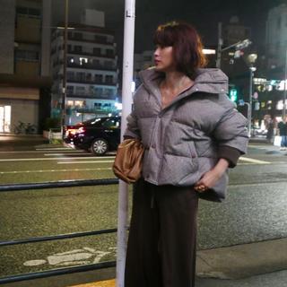 メゾンドリーファー(Maison de Reefur)の【未使用品】ETRE TOKYO ボリュームルーズダウンジャケット チェック(ダウンジャケット)