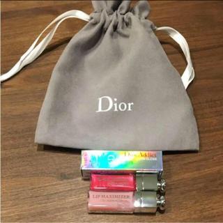 Dior - 巾着付き グロス マキシマイザー ミニセット