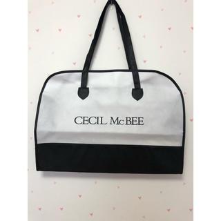 セシルマクビー(CECIL McBEE)のCECIL McBEE ショ袋 ショッパー  ファスナー モノトーン(ショップ袋)