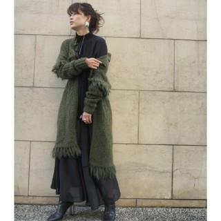 Ameri VINTAGE - 新品タグ付 etre TOKYO モヘアフリンジガウン