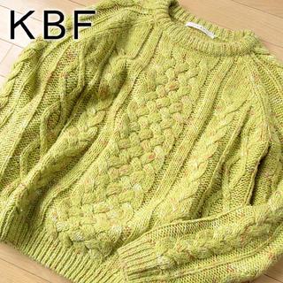 KBF - 美品 フリーサイズ KBF ニット/セーター グリーン