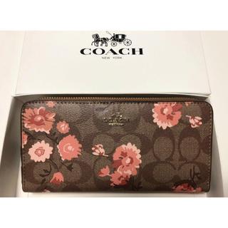 COACH - 新品未使用品★コーチ デイジークラスターフローラルプリント長財布 F78018