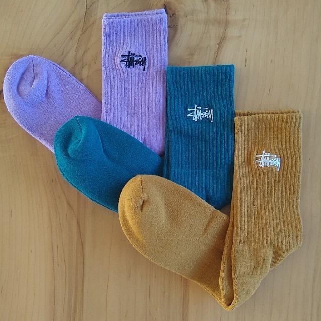 STUSSY(ステューシー)の☆新品☆ STUSSY メンズ ソックス 3点セット stussy 靴下 メンズのレッグウェア(ソックス)の商品写真