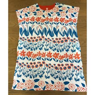 グラニフ(Design Tshirts Store graniph)のグラニフ チュニックワンピ 朱色(チュニック)