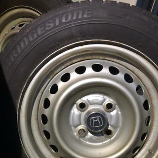 ブリヂストン(BRIDGESTONE)の中古スタッドレスタイヤ 175/65/14 ブリジストン 4本(タイヤ・ホイールセット)