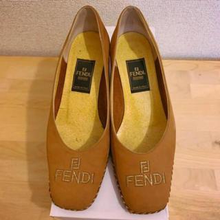FENDI - FENDI フェンディ パンプス サンダル ブラウン 23.5cm