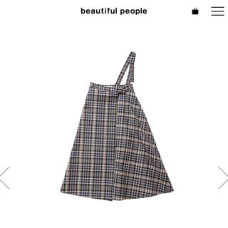 beautiful people - beautiful people 2018aw チェックスカート