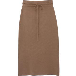 ミラオーウェン(Mila Owen)のmila owen 共紐ニットタイトスカート(ひざ丈スカート)