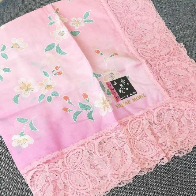 HANAE MORI(ハナエモリ)の新品★モリハナエ シルク綿 レディースのファッション小物(ハンカチ)の商品写真