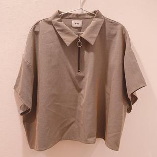 フーズフーギャラリー(WHO'S WHO gallery)のWWG ジップシャツ(半袖)(シャツ/ブラウス(半袖/袖なし))
