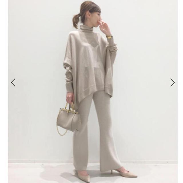 L'Appartement DEUXIEME CLASSE(アパルトモンドゥーズィエムクラス)の19日まで出品L'Appartement Flare Knit Pants34 レディースのパンツ(カジュアルパンツ)の商品写真