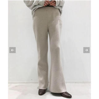 L'Appartement DEUXIEME CLASSE - 19日まで出品L'Appartement Flare Knit Pants34
