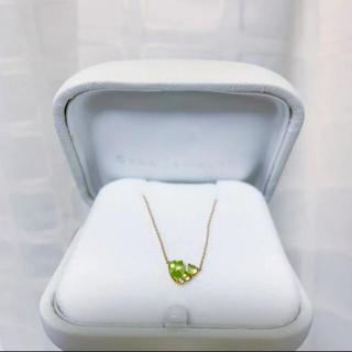 STAR JEWELRY - Star jewelry ペリドットハートネックレス
