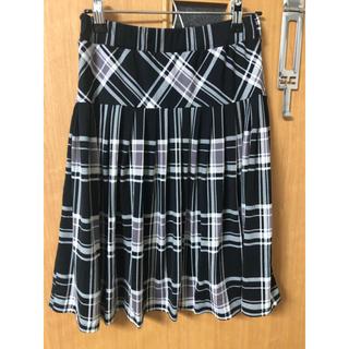 セシール(cecile)のチェック柄 スカート(ひざ丈スカート)