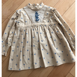Caramel baby&child  - Apolina JANIS DRESS BLUEGRASS ワンピース 2-3y