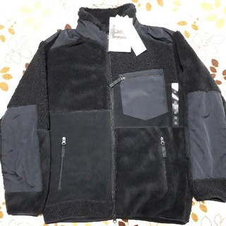 UNIQLO - 新品 ユニクロ エンジニアドガーメンツ コンビネーションフリースジャケット黒 M
