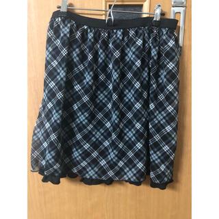 セシール(cecile)のチェック柄スカート(ひざ丈スカート)