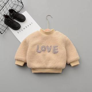 プティマイン(petit main)のインポート子供服 LOVE フリーススエット 新品未使用 80cm(トレーナー)