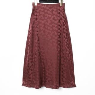 GRACE CONTINENTAL - 新品 シルクサテンジャガードスカート トランプ柄 グレースコンチネンタル