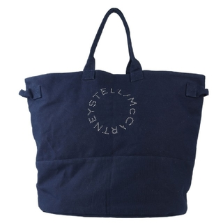 ステラマッカートニー(Stella McCartney)のプロジェクトコラボ【新品】STELLA McCARTNEY キャンバストート 紺(トートバッグ)