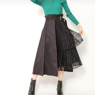Lily Brown - lilybrown アシンメトリープリーツスカート