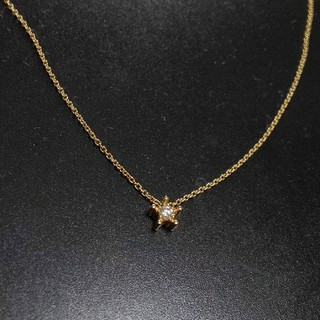 STAR JEWELRY - スタージュエリー K18 ダイヤモンド 星ネックレス