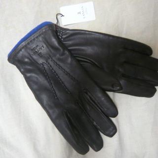 ランバンオンブルー(LANVIN en Bleu)の新品¥12,100 LANVIN en blueランバン*羊革こげ茶 紳士手袋M(手袋)